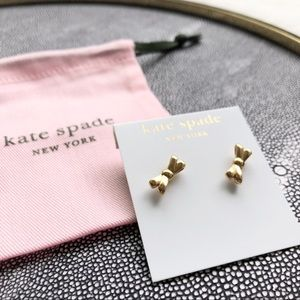 KATE SPADE ♠️ Gold Bow Earrings